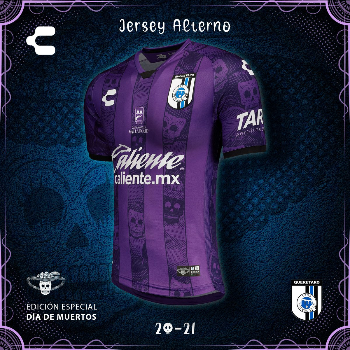 Camisa Dia de Los Muertos do Querétaro 2020 Charly
