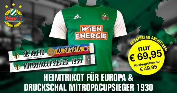 Camisa Europa League do Rapid Wien 2020-2021 Adidas