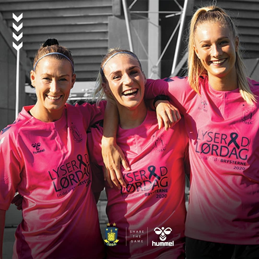 Camisa Outubro Rosa do Brøndby IF 2020 Hummel