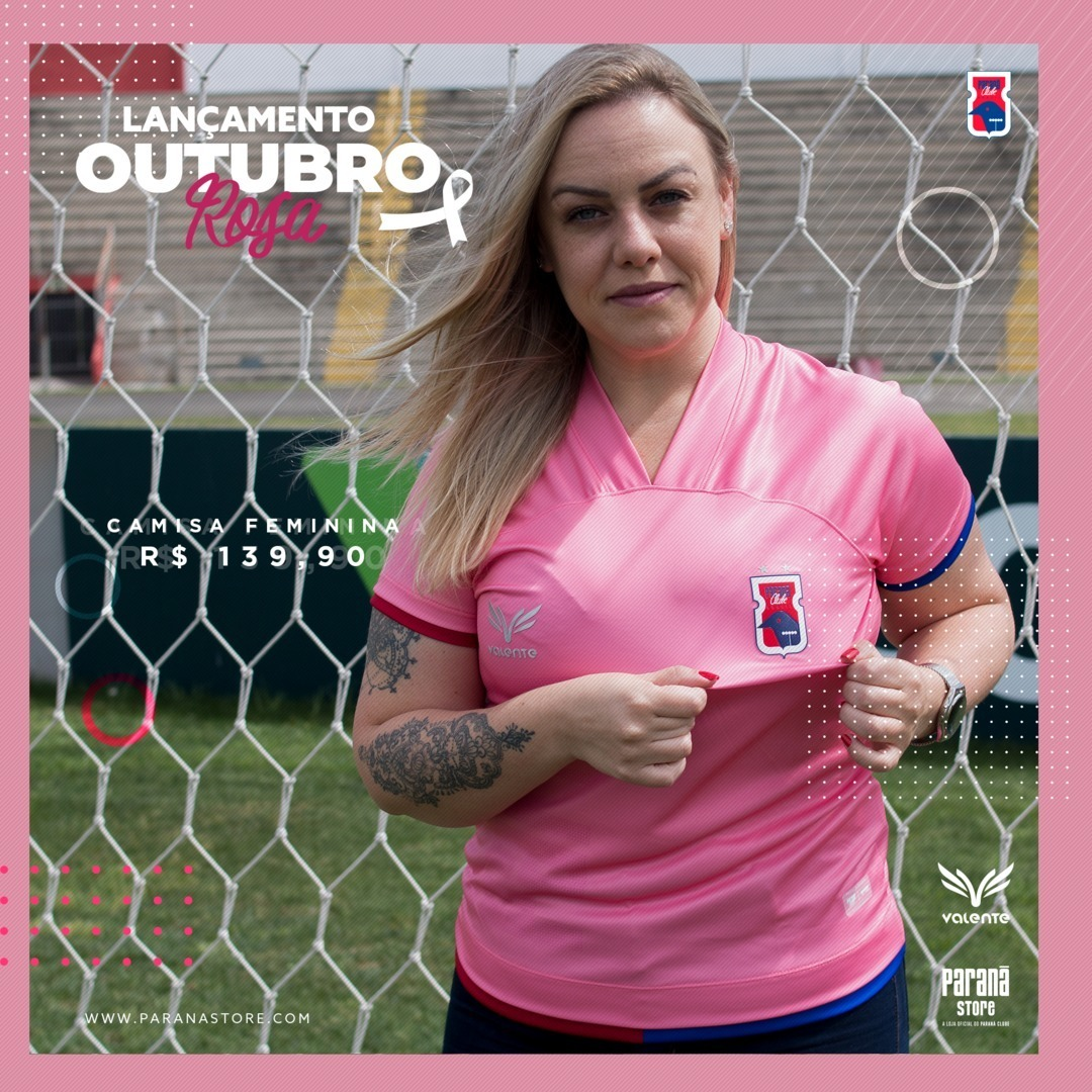 Camisa Outubro Rosa do Paraná Clube 2020 Valente