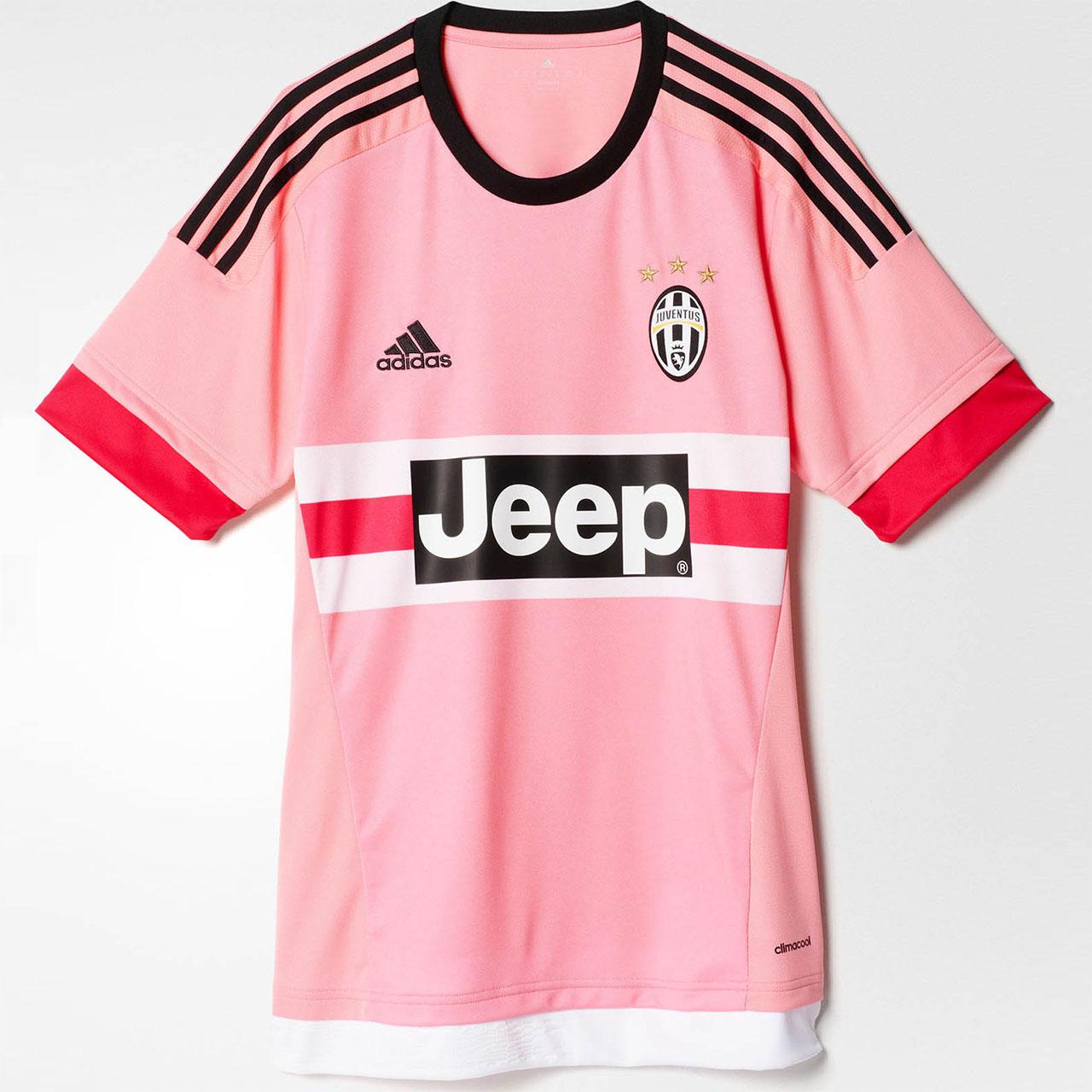 Camisa rosa da Juventus 2015-2016 Adidas