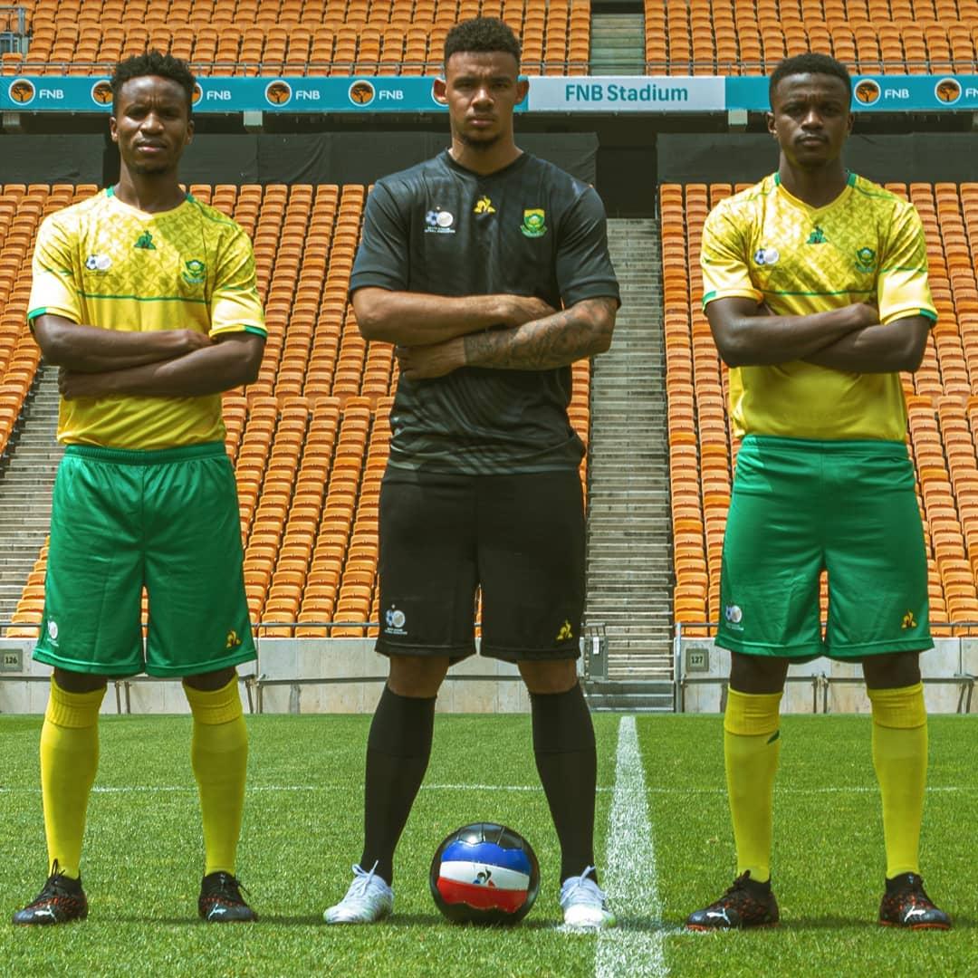 Camisas da África do Sul 2020-2021 Le Coq Sportif Home
