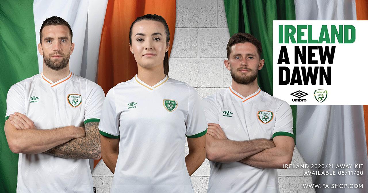 Camisas da Seleção da Irlanda 2020-2021 Umbro Away