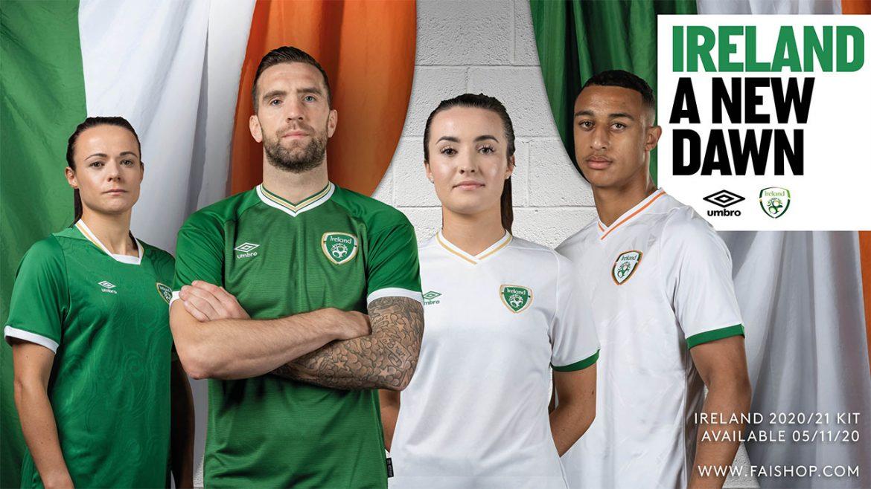 Camisas da Seleção da Irlanda 2020-2021 Umbro a