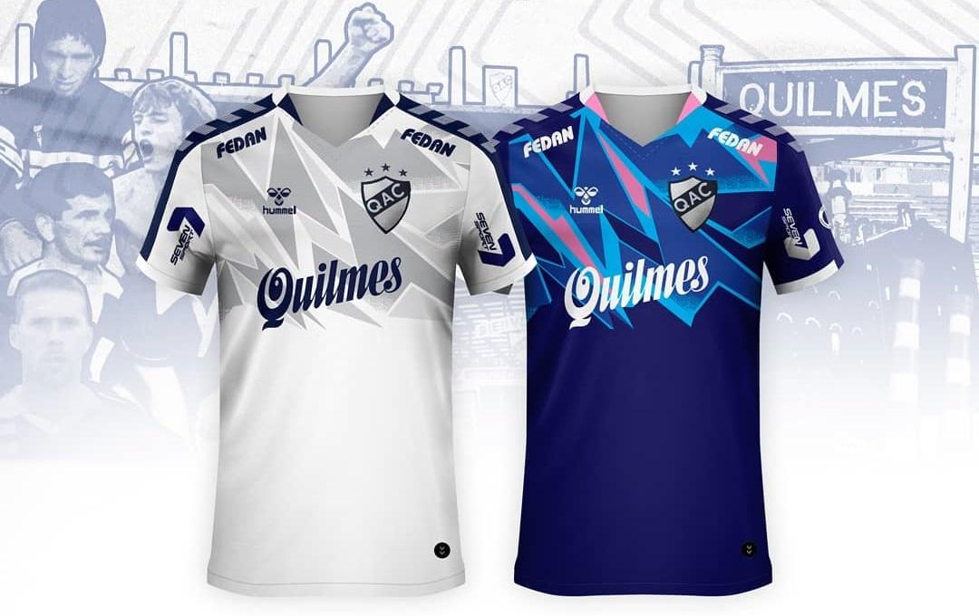 Camisas de pré-temporada do Quilmes 2020 Hummel