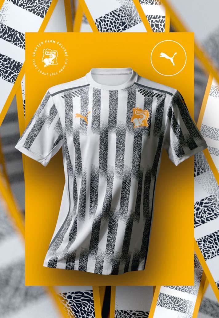 Camisas do Costa do Marfim 2020-2021 PUMA Away