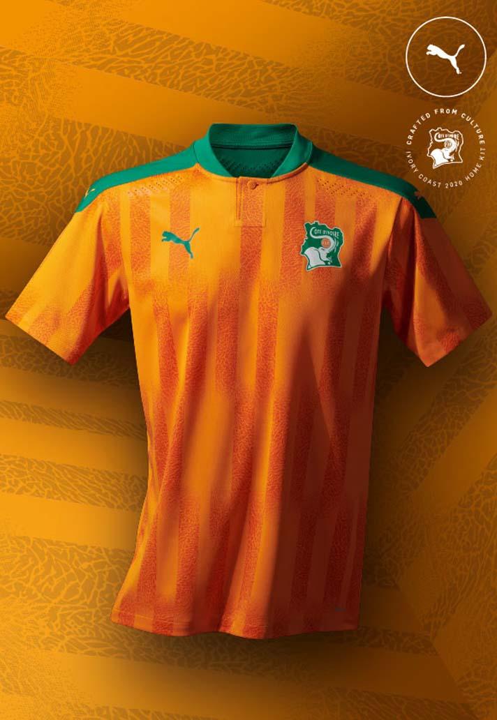 Camisas do Costa do Marfim 2020-2021 PUMA Home