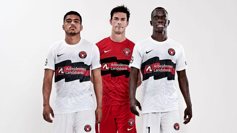 Camisas do FC Midtjylland Champions League 2020-2021 Nike a