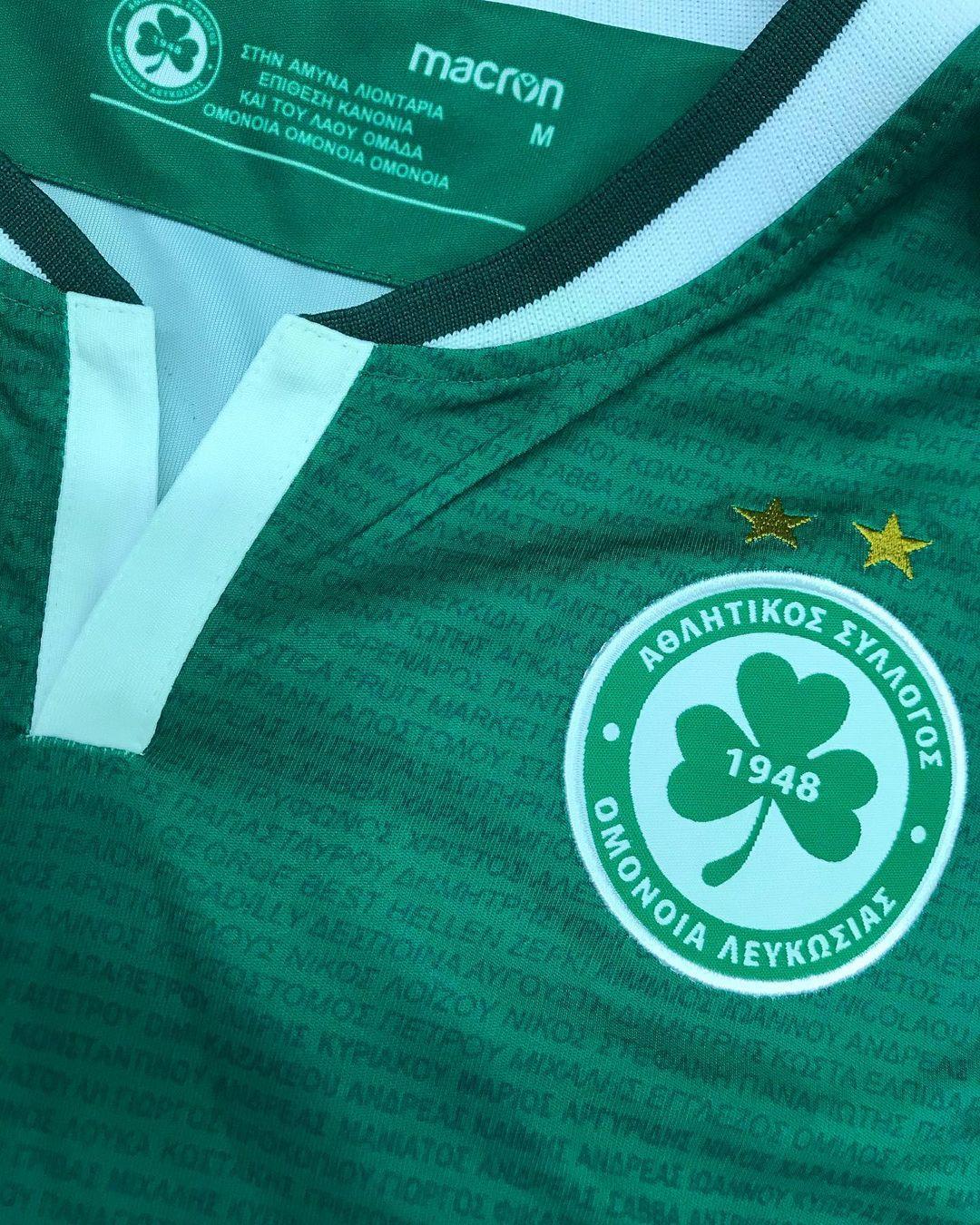 Camisas do Omonia Nicosia 2020-2021 Macron Home