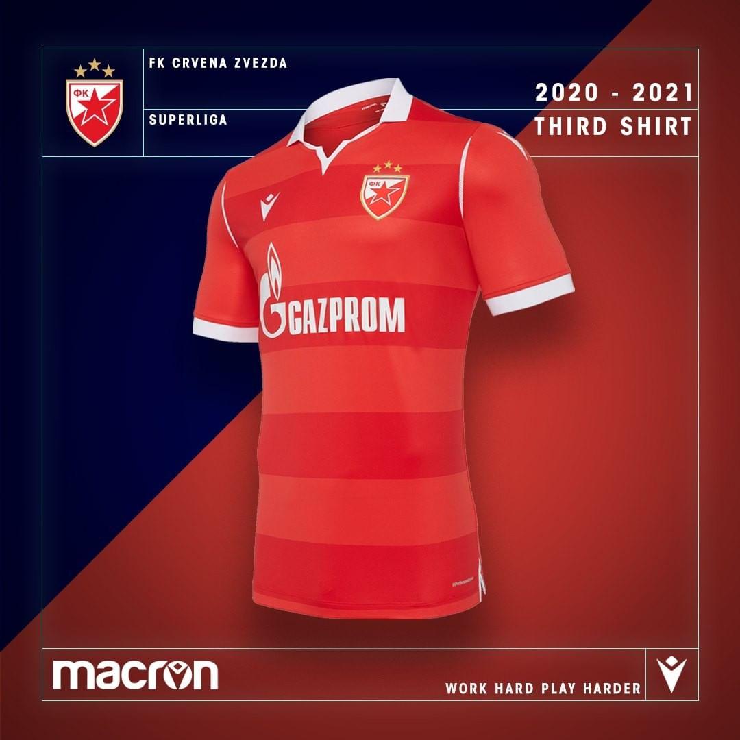 Terceira camisa do Estrela Vermelha 2020-2021 Macron