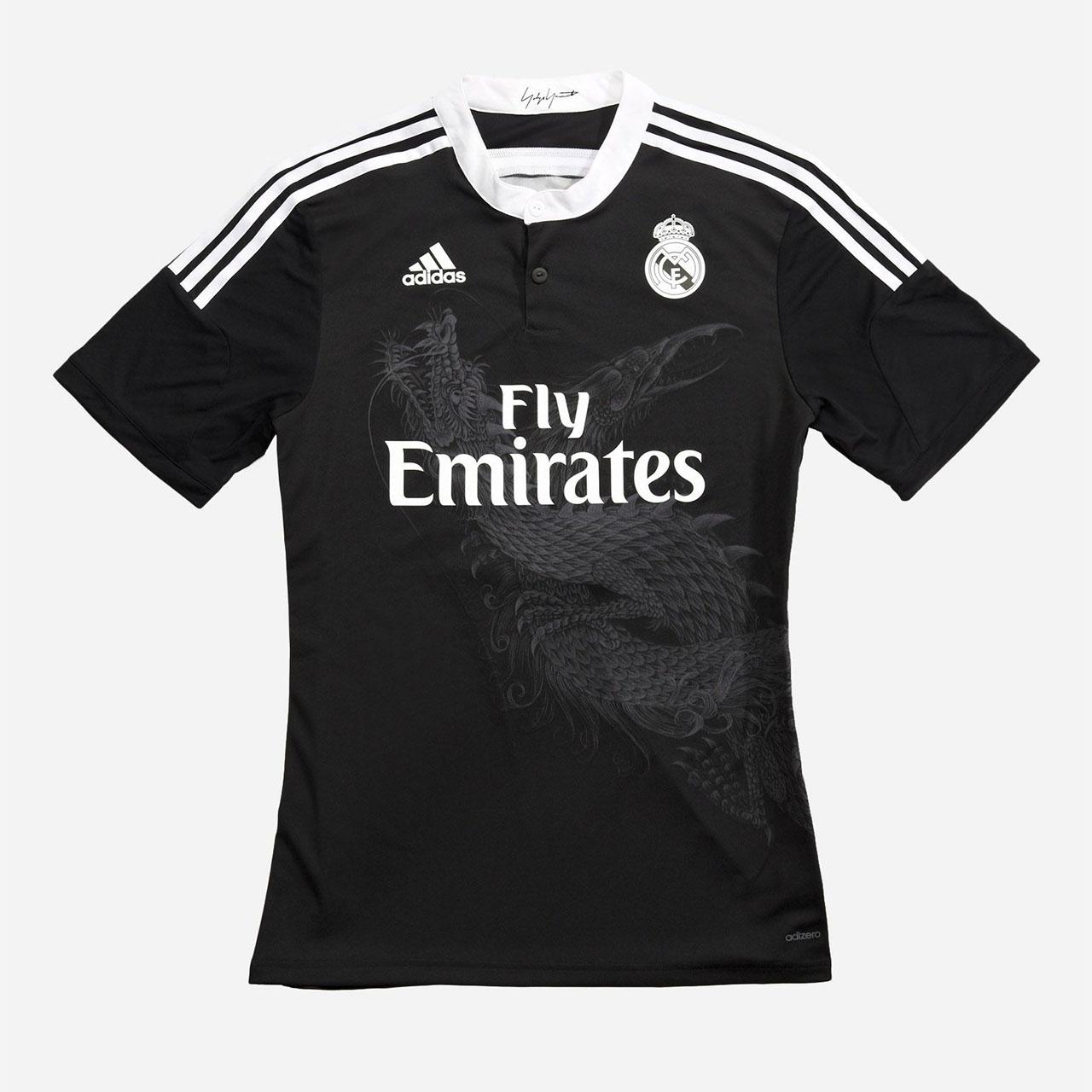 Terceira camisa do Real Madrid 2014-2015 Adidas Dragão Yohji Yamamoto