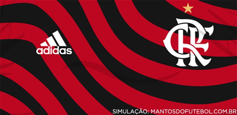 simulação Camisa Ondulada do Flamengo 2022-2023