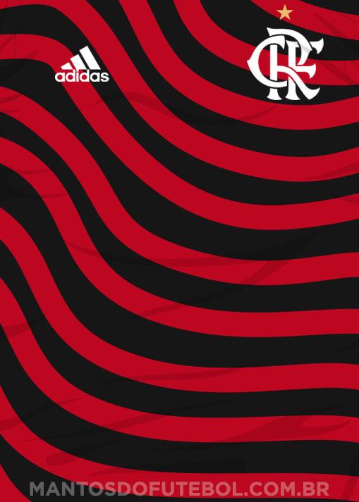simulação Camisa Ondulada do Flamengo 2022-2023 2