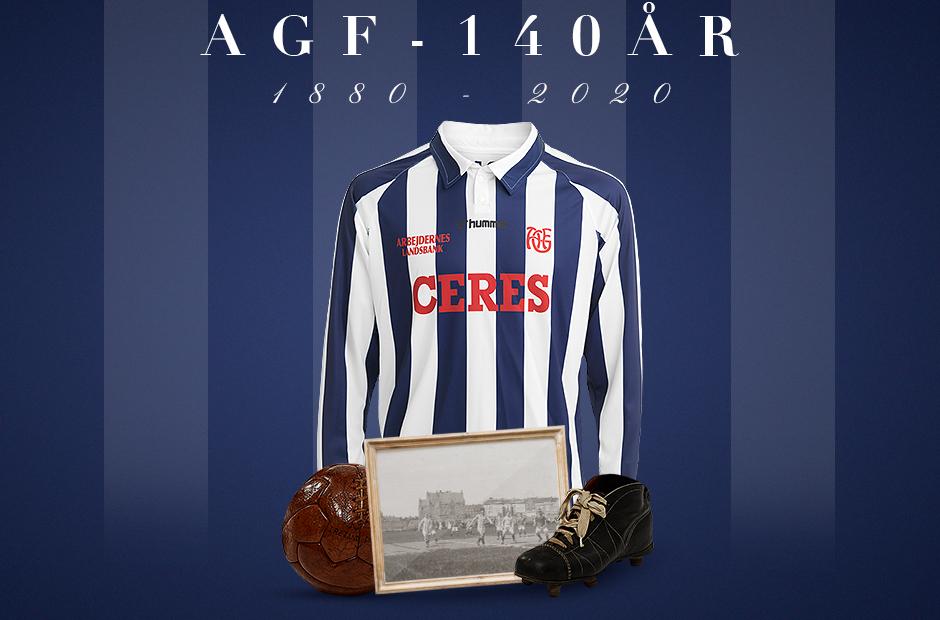 Camisa de 140 anos do Aarhus 2020 Hummel