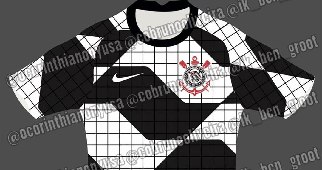 Camisa pre-match do Corinthians 2020-2021 Nike a