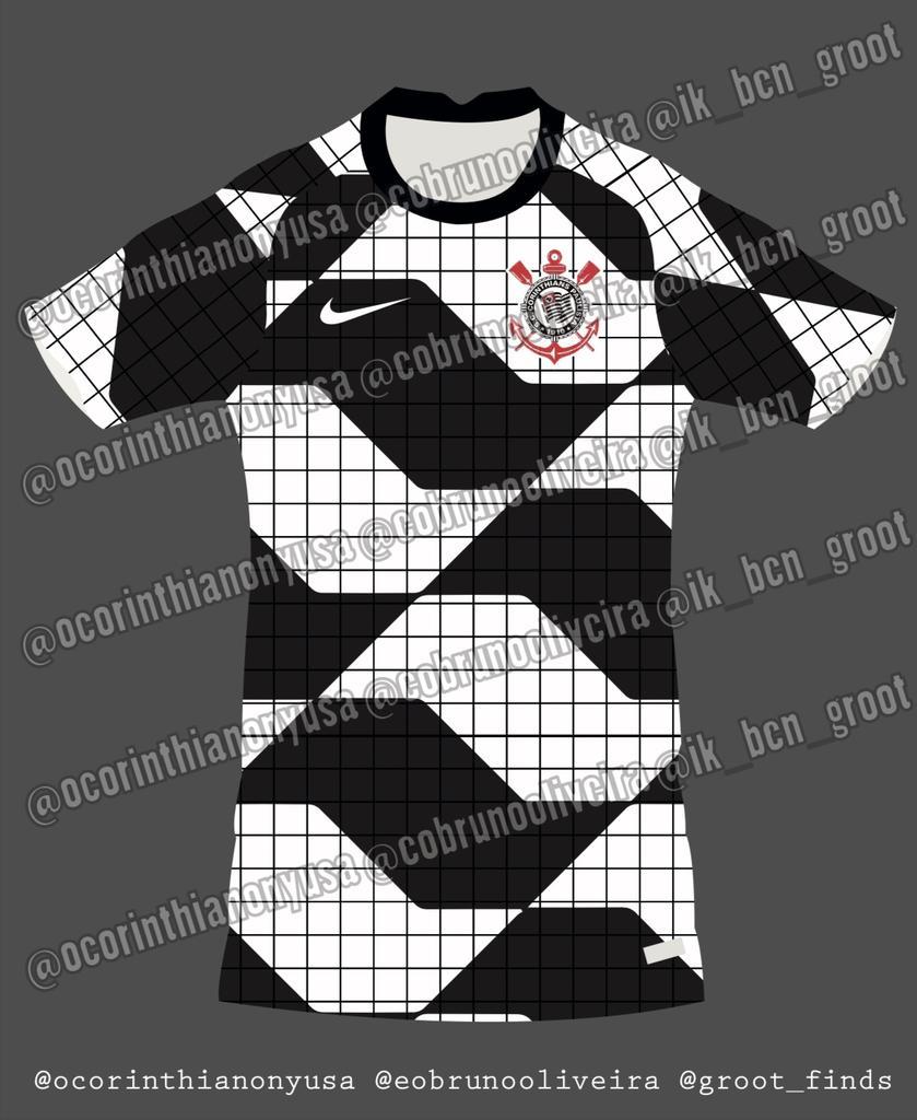 Camisa pre-match do Corinthians 2020-2021 Nike