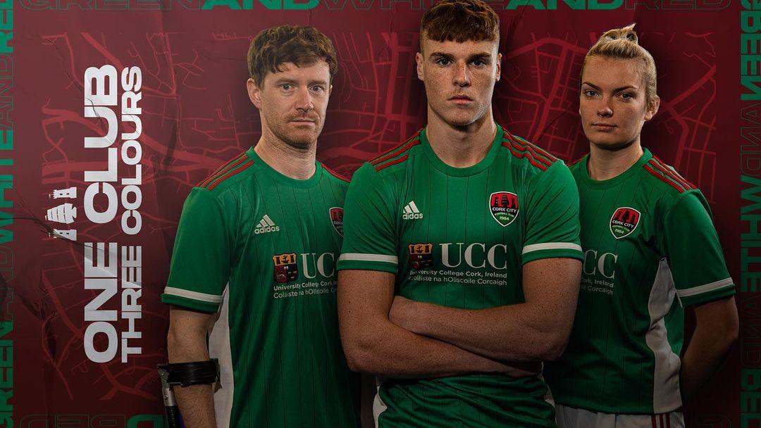 Camisas do Cork City 2020-2021 Adidas