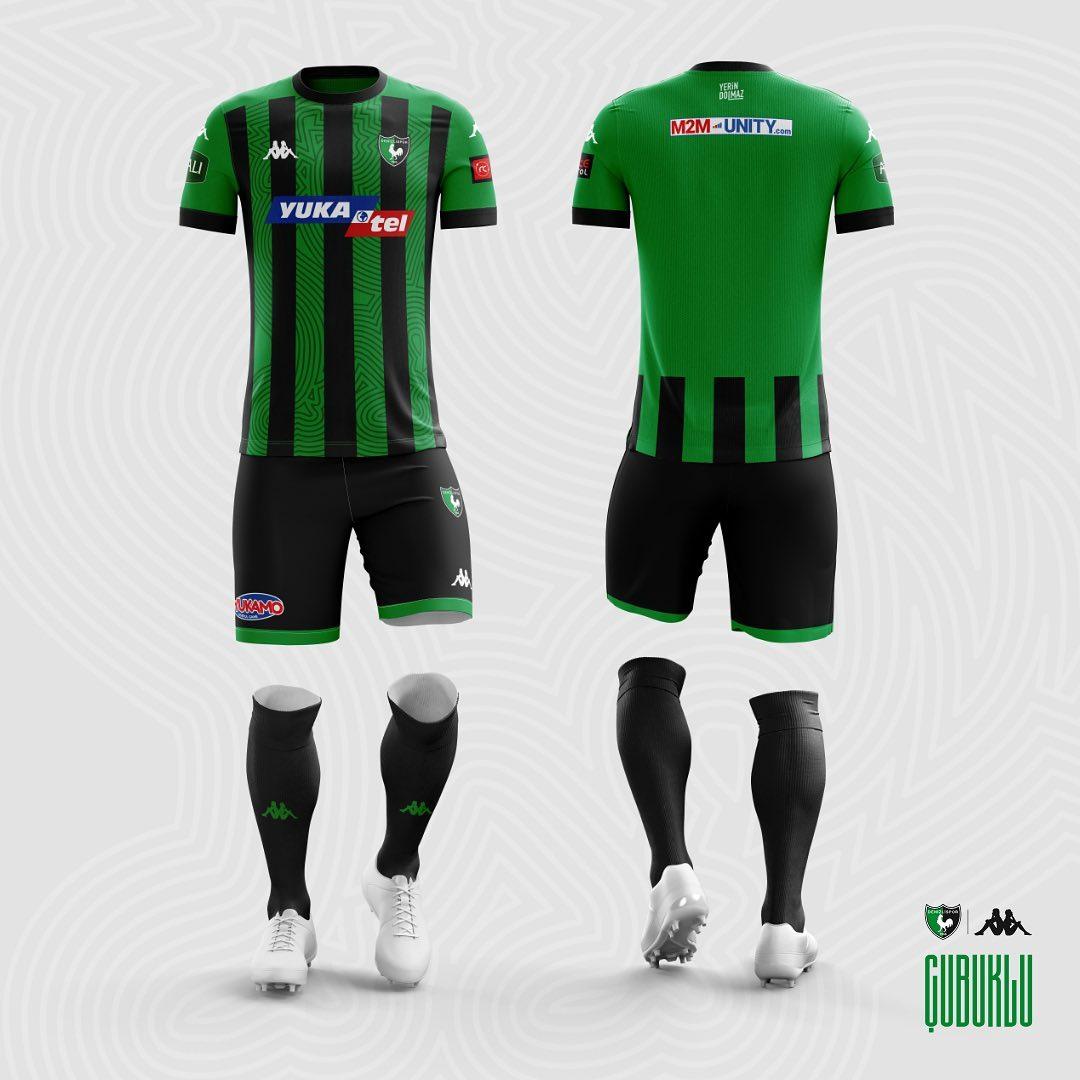 Camisas do Denizlispor 2020-2021 Kappa