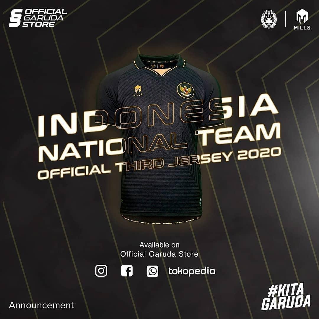 Terceira camisa da Indonésia 2020-2021 Mills Sport