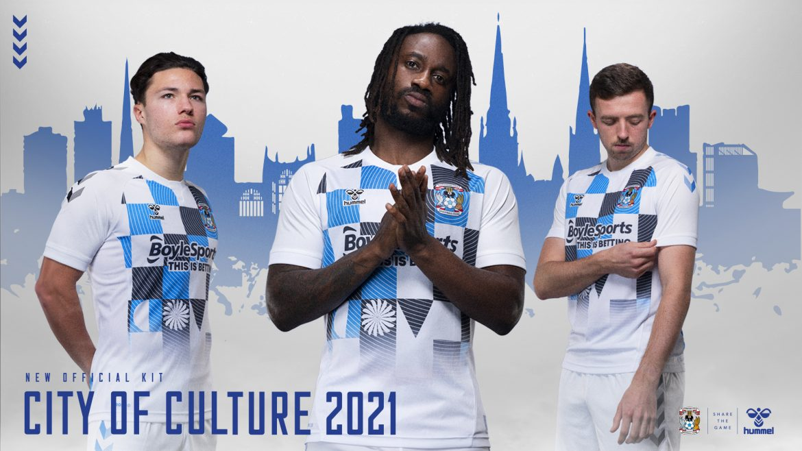 Terceira camisa do Coventry City 2020-2021 Hummel