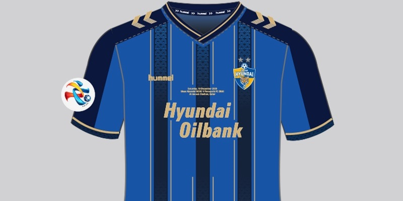 Camisa comemorativa AFC do Ulsan Hyundai 2020 Hummel