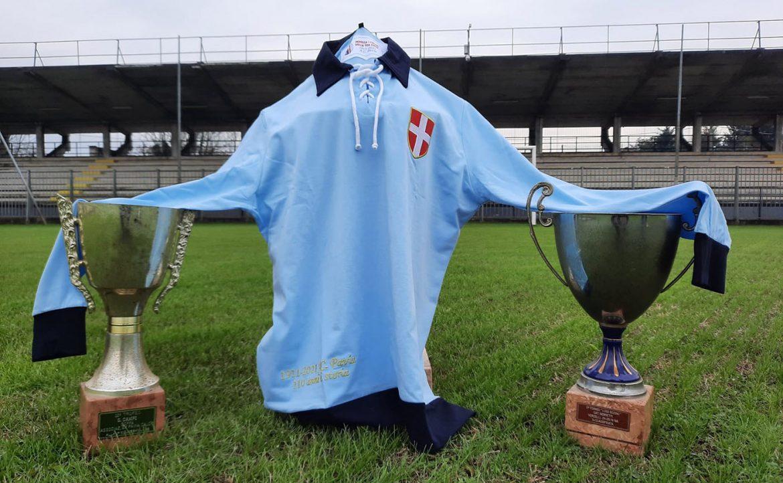 Camisa retrô dos 110 anos do Pavia 2021 Spensley a