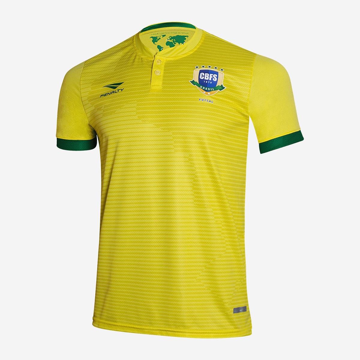 Camisas da Seleção Brasileira de Futsal 2020-2021 Penalty
