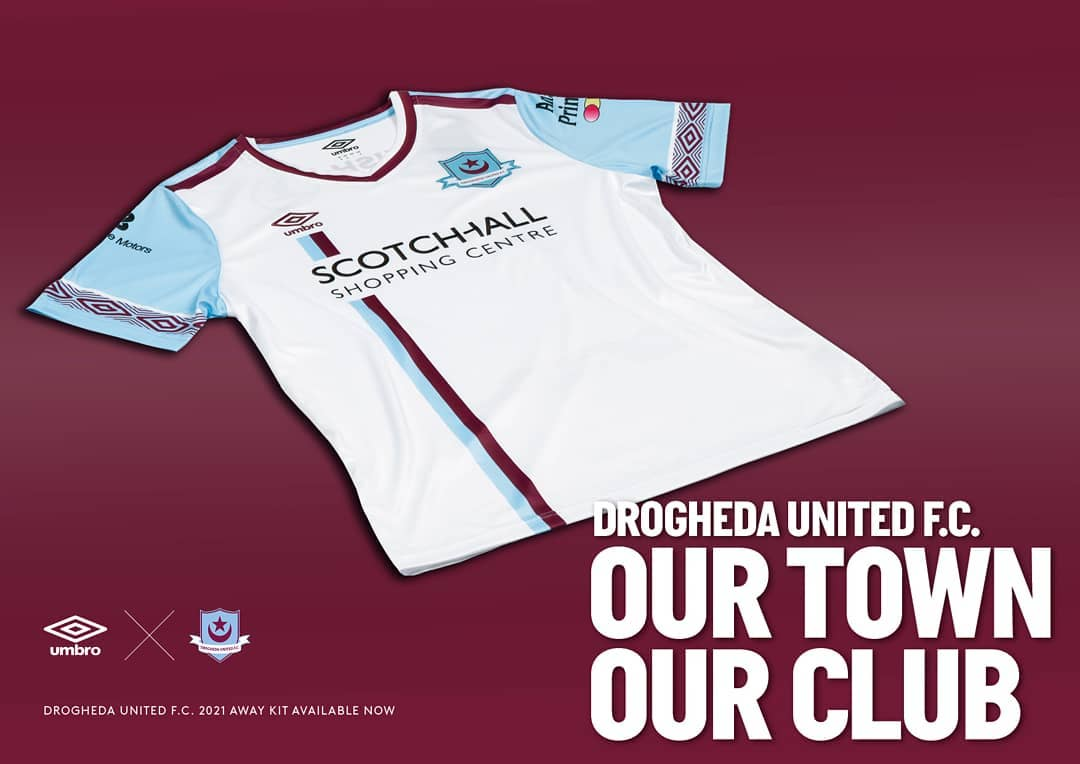 Camisas do Drogheda United 2020-2021 Umbro