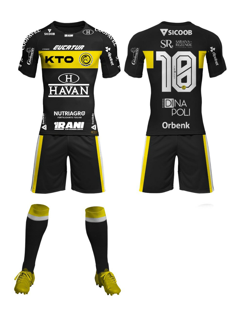 Camisas do FC Cascavel 2021 Meinerz Titular