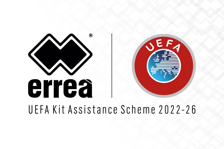 Errea UEFA Kit Assistance Scheme 2022-2026