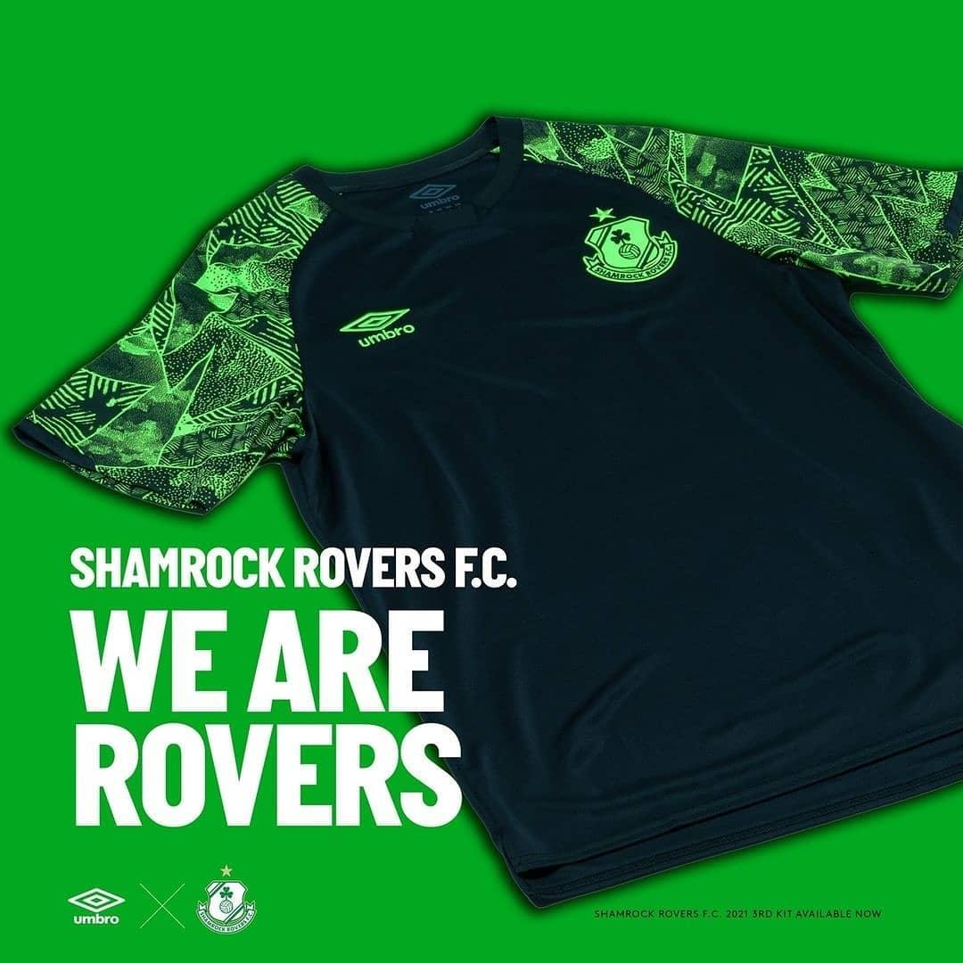 Terceira camisa do Shamrock Rovers 2021 Umbro