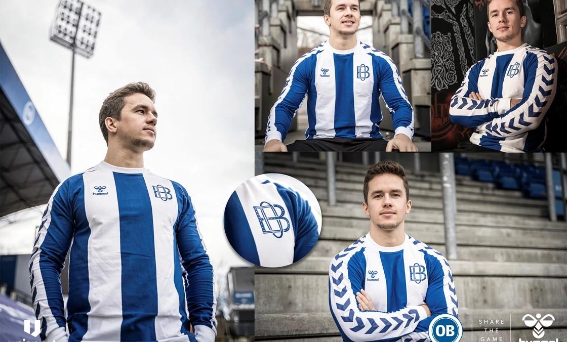 Camisa retrô do Odense BK 2021 Hummel
