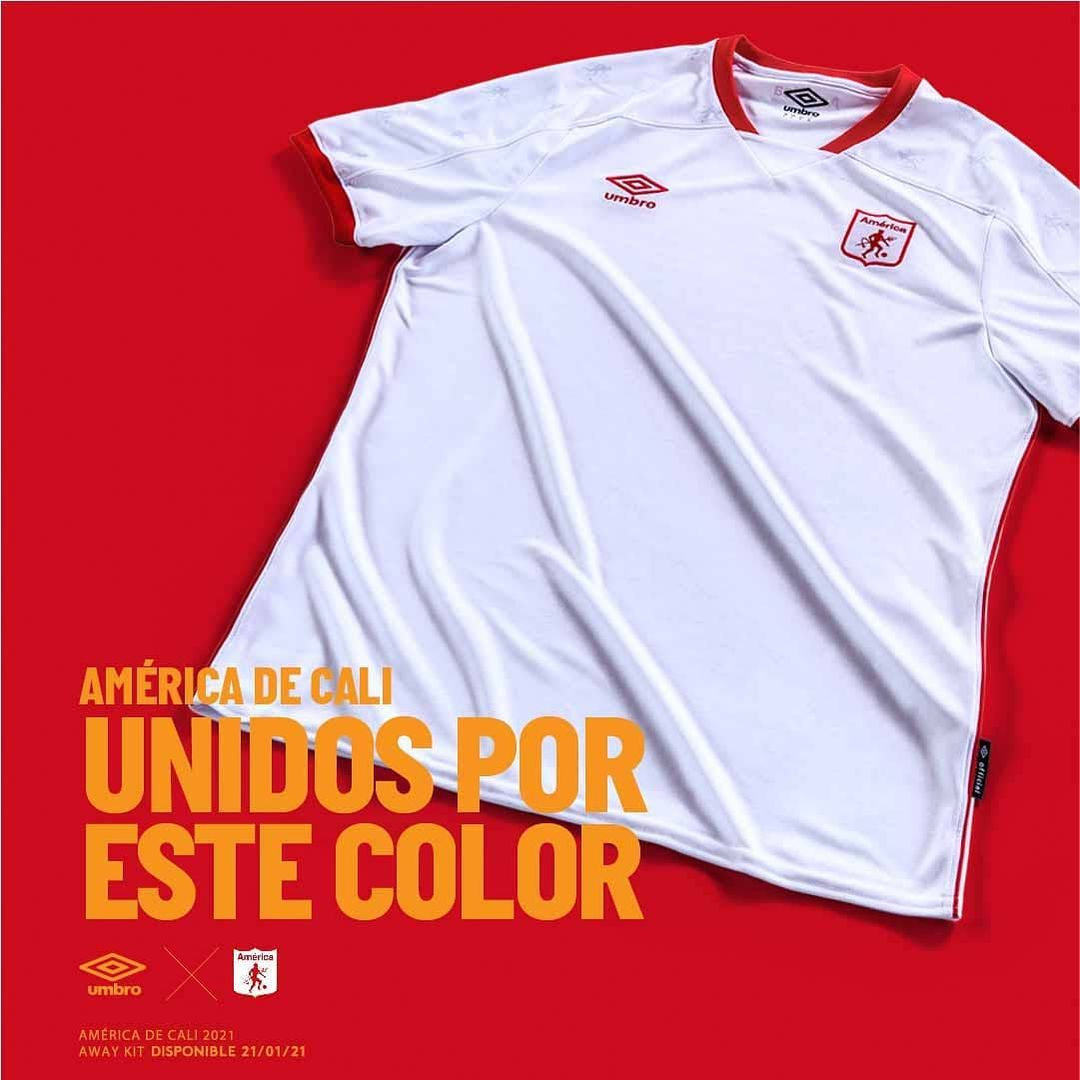 Camisas do América de Cali 2021 Umbro Away