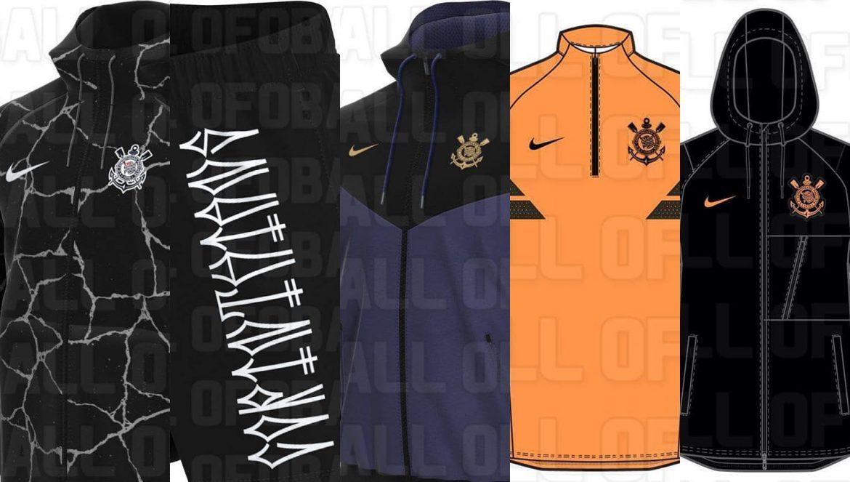 Imagens de produtos da Nike para o Corinthians em 2021-2022