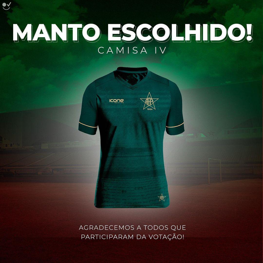 Quarta camisa da Portuguesa Rio 2021 Ícone Sports