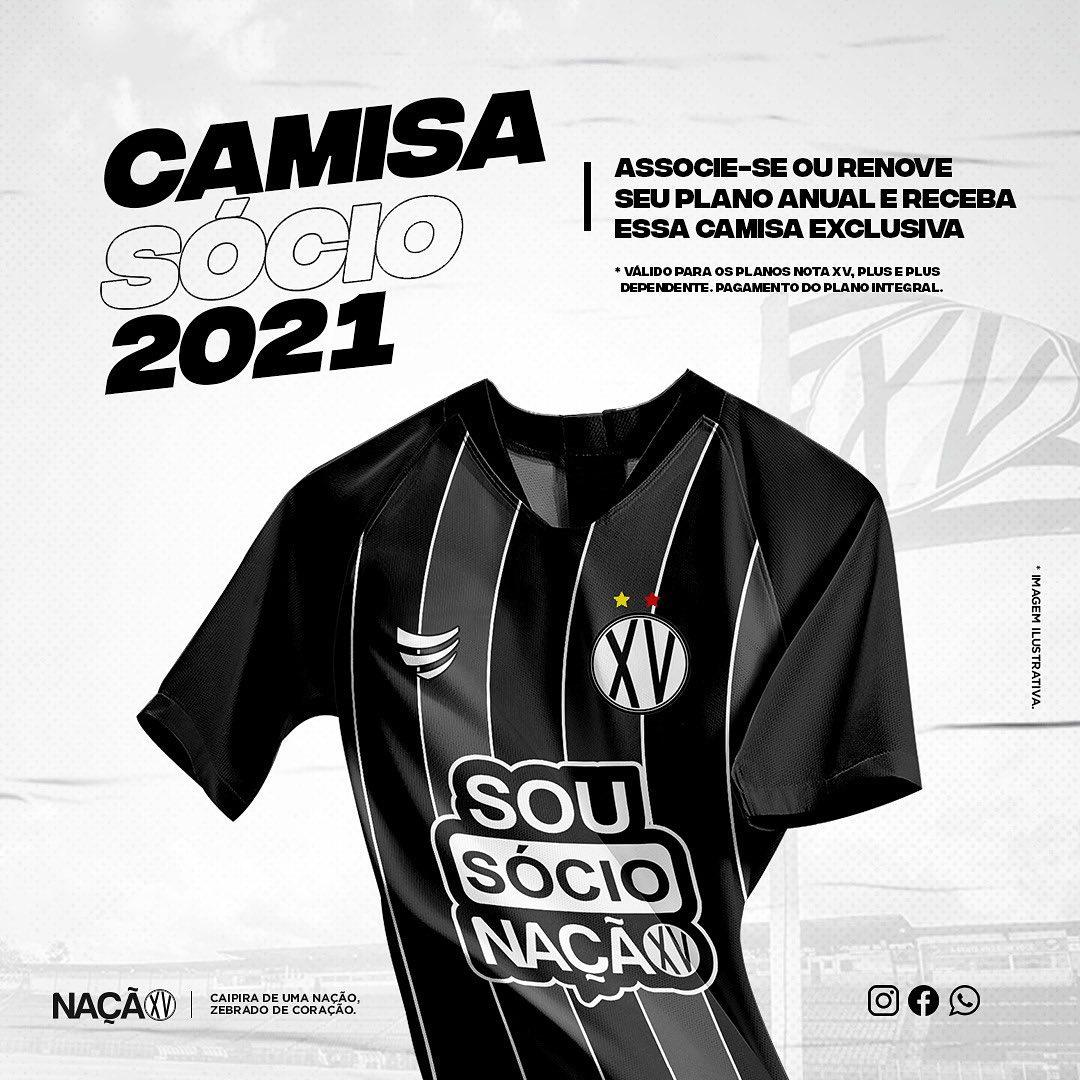 XV de Piracicaba lança camisa especial para sócios torcedores