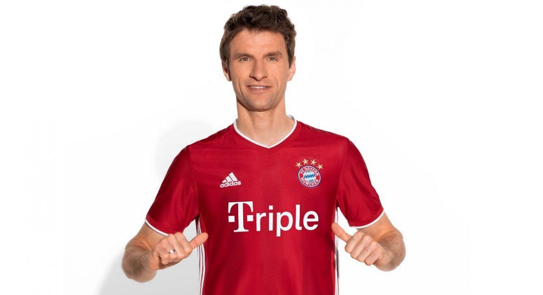 Bayern de Munique lança camisas da tríplice coroa