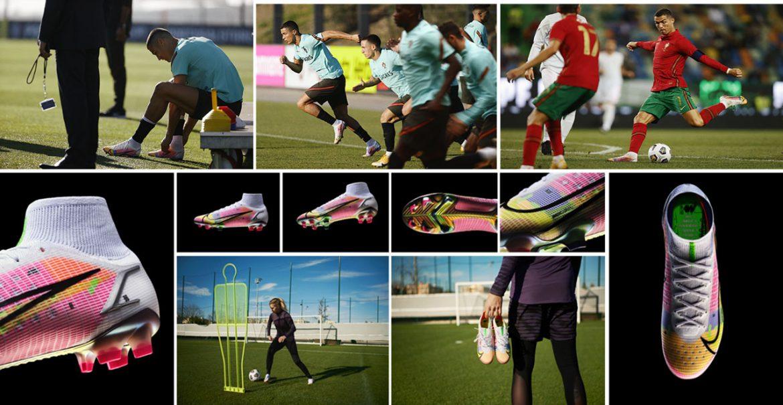 CR7 e Ada Hegerberg apresentam nova chuteira Nike Mercurial