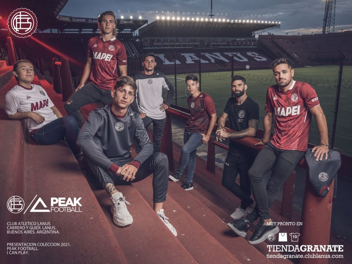 Camisas do CA Lanús 2021 Peak