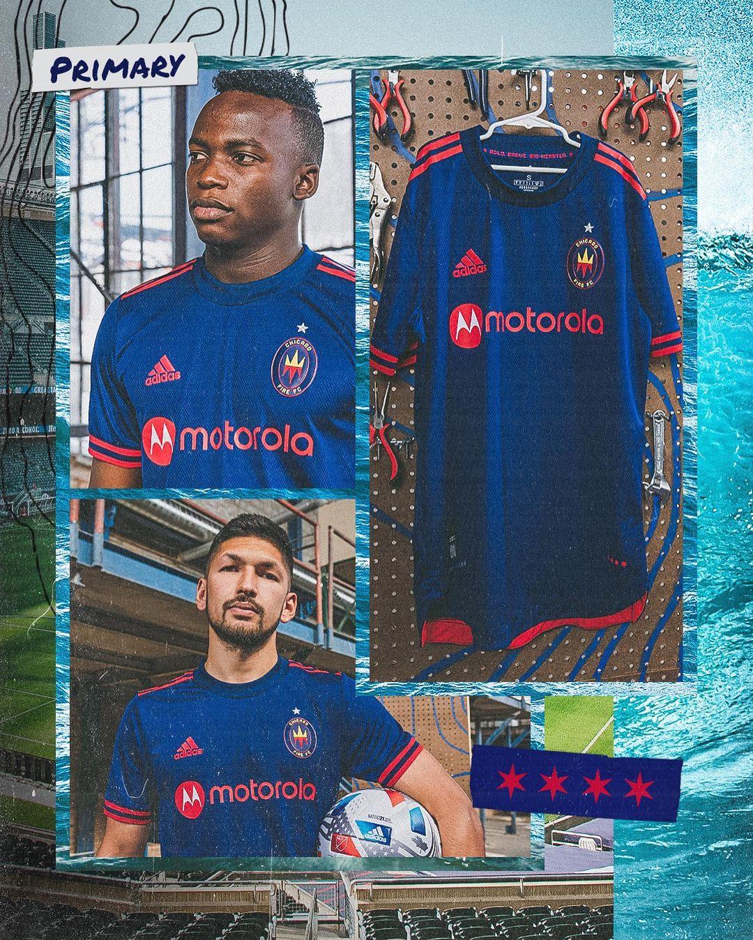 Camisas do Chicago Fire 2021 Adidas MLS