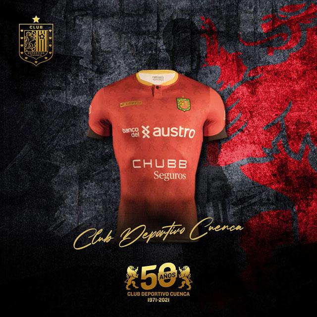 Camisas do Deportivo Cuenca 2021 Lotto