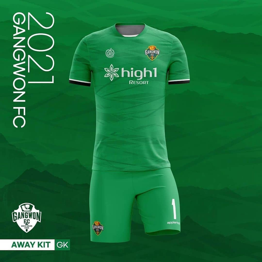 Camisas do Gangwon FC 2021 Applerind
