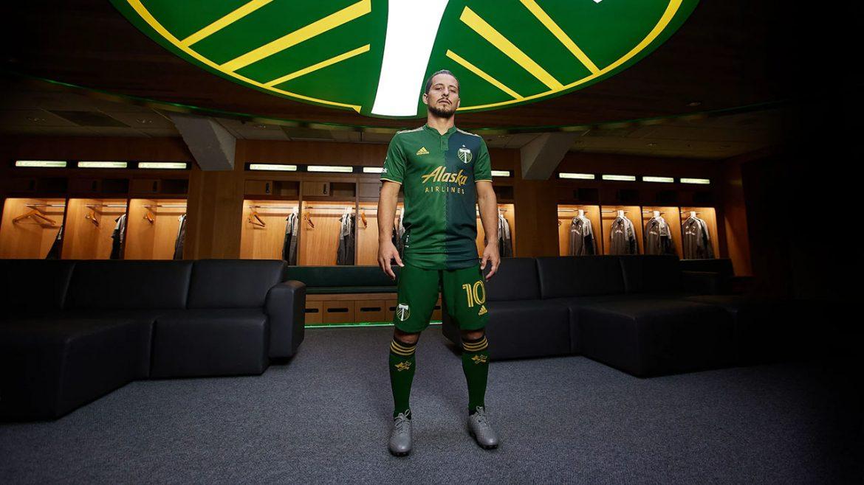 Camisas do Portland Timbers 2021 Adidas MLS 1
