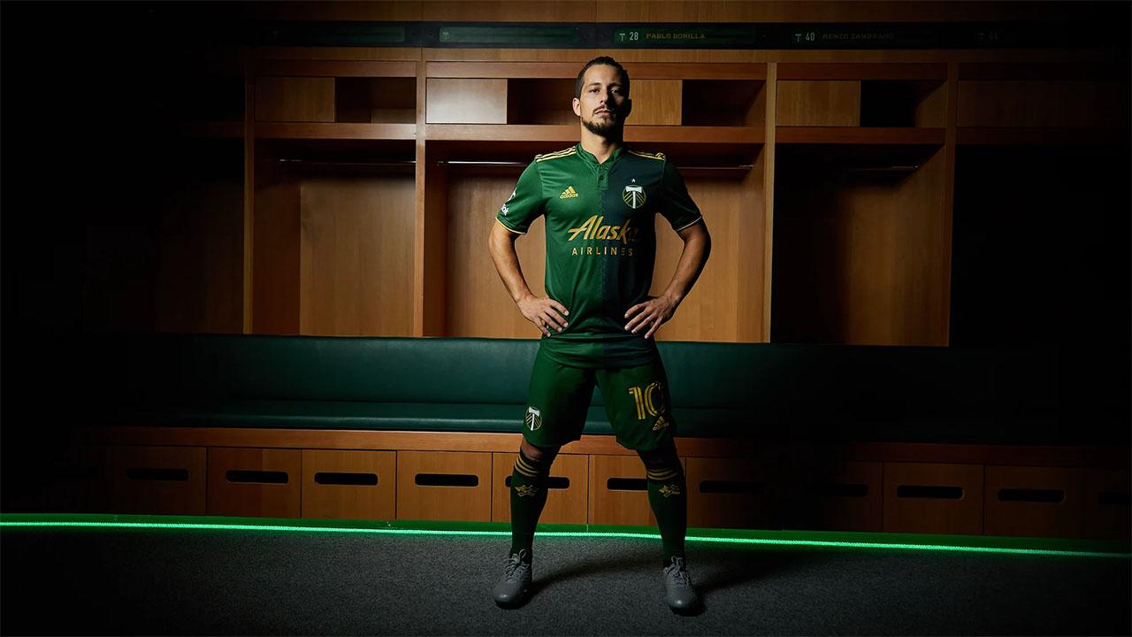 Camisas do Portland Timbers 2021 Adidas MLS 2