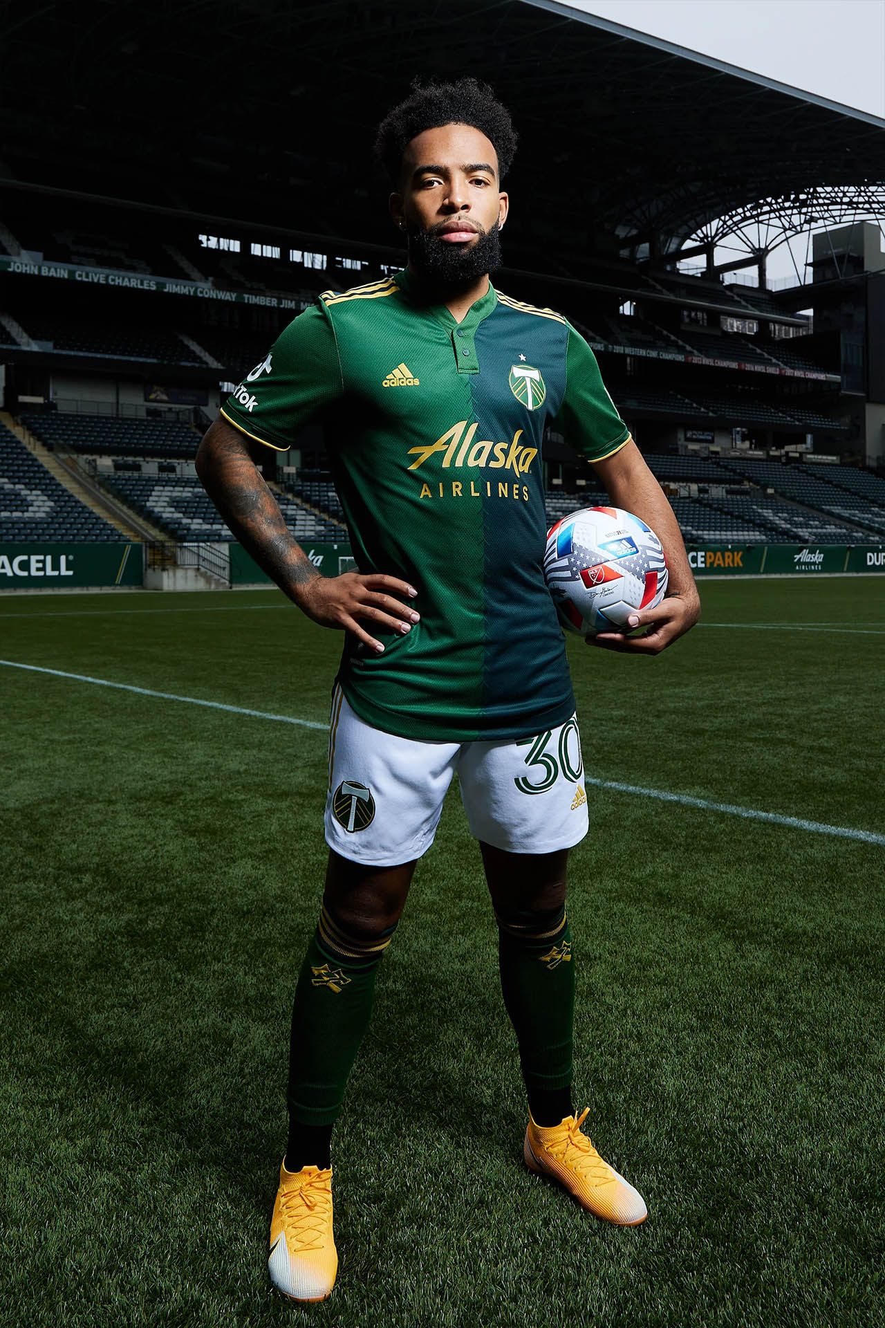 Camisas do Portland Timbers 2021 Adidas MLS