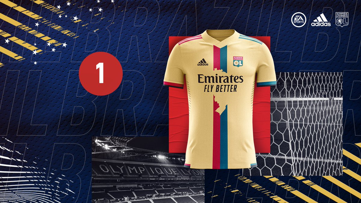 Lyon terá quarta camisa homenageando o Brasil