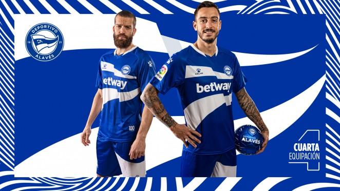 Quarta camisa do Deportivo Alavés 2021 Kelme