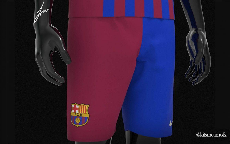 Calção Barcelona bicolor