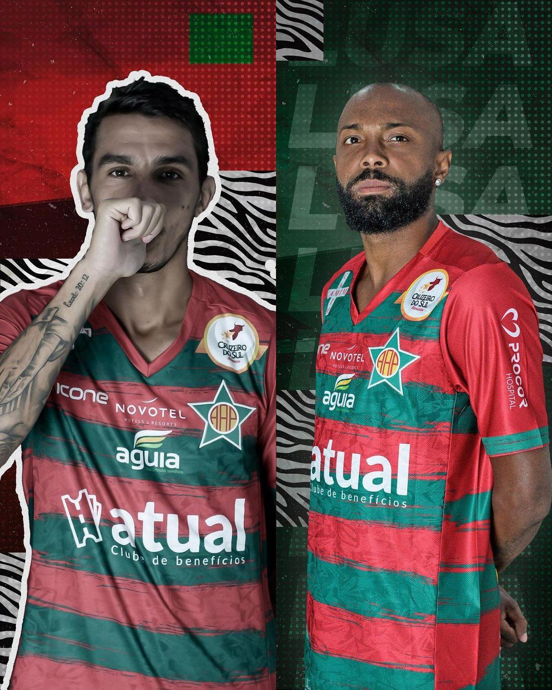 Camisas da Portuguesa do Rio 2021 Ícone Sports Reserva