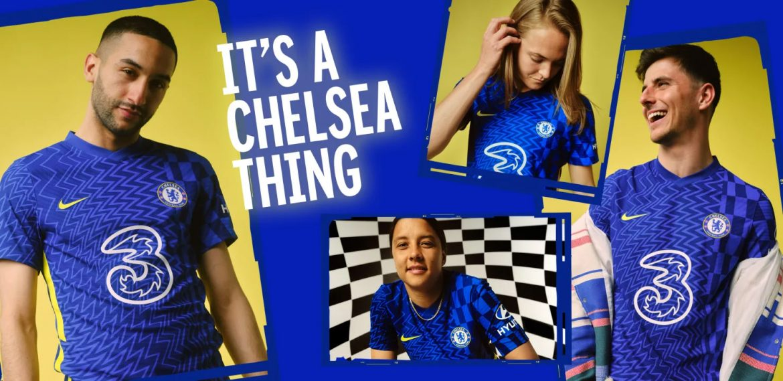 Camisas do Chelsea 2021-2022 Nike a